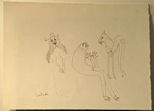 Francisco TOLEDO - Dibujo Acuarela - Two sided drawing