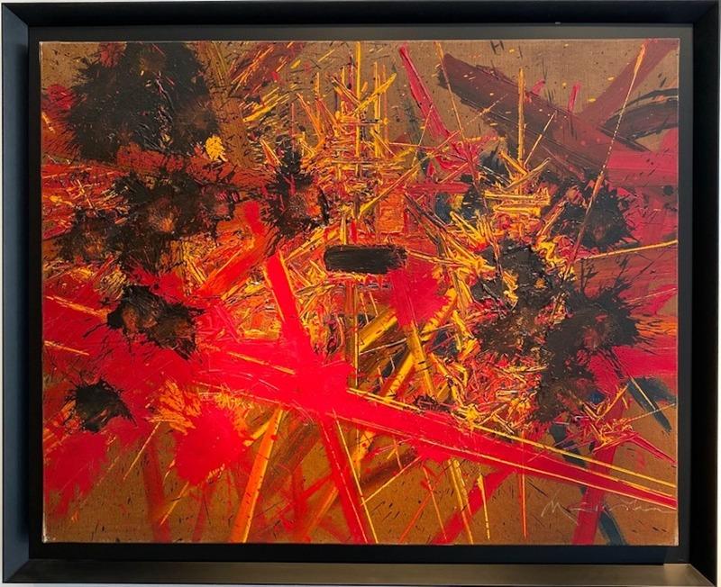 Georges MATHIEU - Gemälde - Regards las