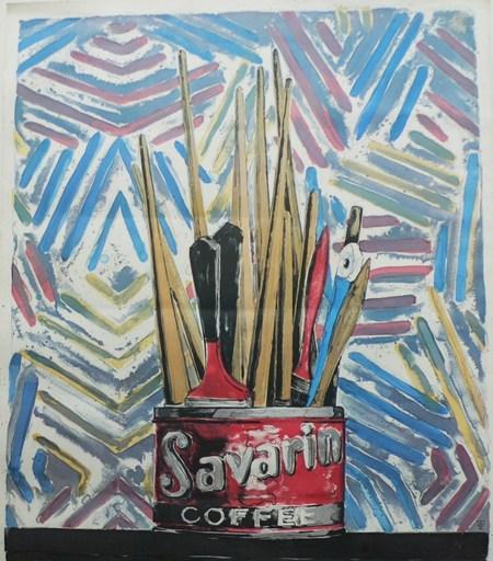 """Jasper JOHNS - Print-Multiple - """"Savarin Coffee"""""""