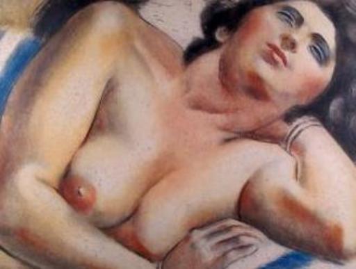 André LHOTE - Grabado - portrait de femme nue en buste
