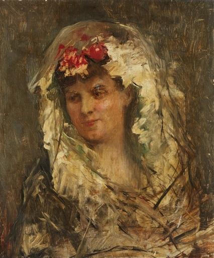 Raimundo DE MADRAZO Y GARRETA - Gemälde - Portrait d'une femme espagnole