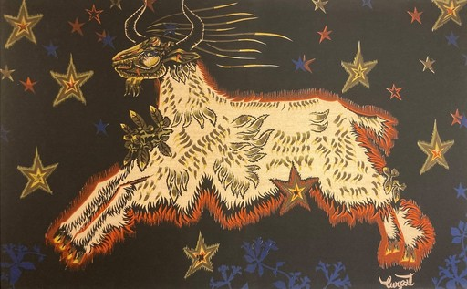 Jean LURÇAT - Tapisserie - Le bouc aux étoiles