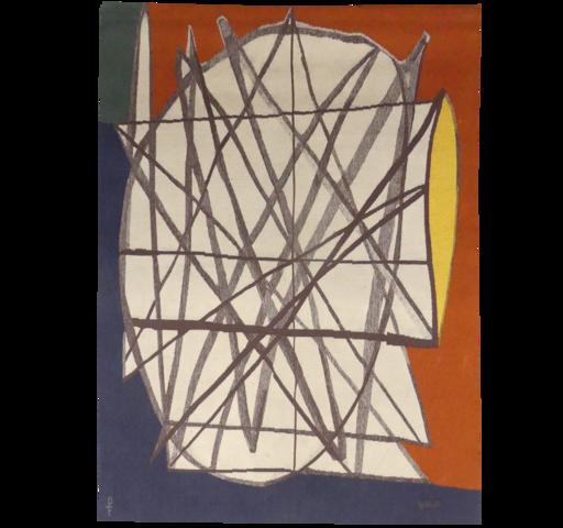 Émile GILIOLI - Tapestry - Composition n°4