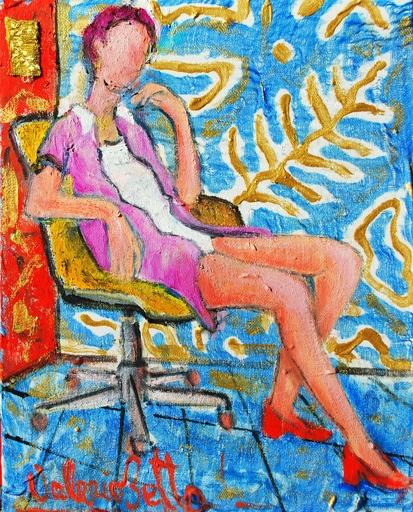 Valerio BETTA - Peinture - Model take a rest at home