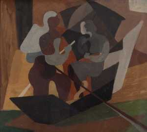 Mario DELUIGI - Pintura - Amori in gondola