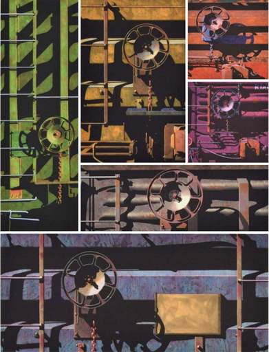 "Robert COTTINGHAM - Stampa-Multiplo - Robert Cottingham ""Rolling Stock"" Portfolio, 6 Works"