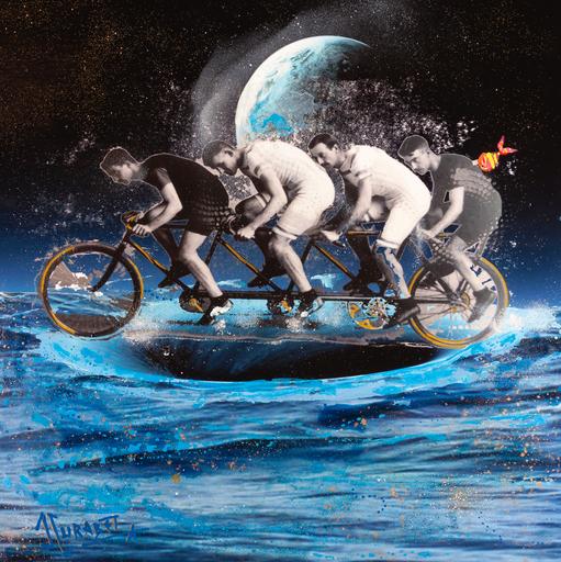 Jean-Luc CURABET - Painting - La poule E.P.O
