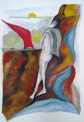 Romeo MESISCA - Disegno Acquarello - Verso il mare