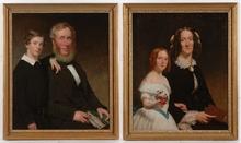 "John L. RITCHIE - Pintura - ""Two Family Portraits"", 1854"