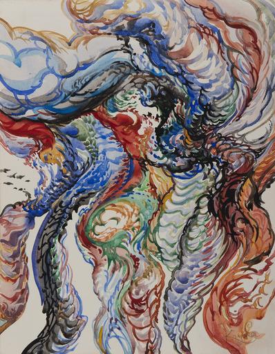 Frantisek KUPKA - Disegno Acquarello - Composition