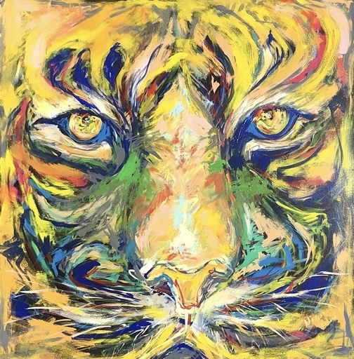 Nicole LEIDENFROST - Gemälde - Komposition in orange