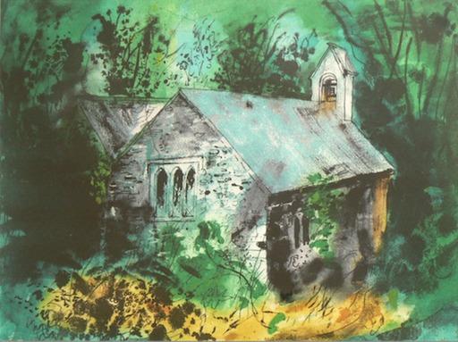 John PIPER - Print-Multiple - Old Church of Mynachlogddu