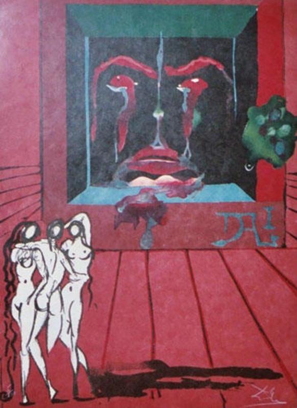 Salvador DALI - Estampe-Multiple - Obsession of The heart