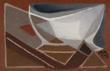 Juan GRIS - Peinture - Bol et pipe