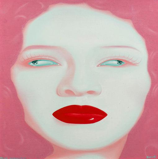 FENG Zhengjie - Painting - Untitled (China Portrait Series 2004 no 11).