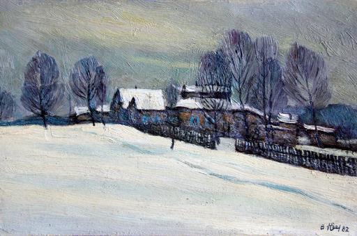 Valeriy NESTEROV - Painting - Moscow region. Novlyanki Village