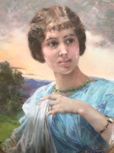 Marie Aimée LUCAS-ROBIQUET - Zeichnung Aquarell - portrait