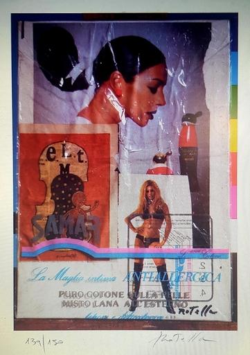 Mimmo ROTELLA - Stampa Multiplo - Brigitte Bardot