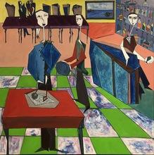 Abraham DAYAN - Painting - Le Restaurant Italien