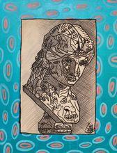 Robert COMBAS - Peinture - Ancient bust