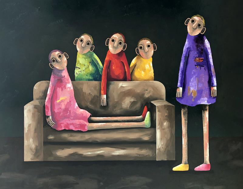 Pascal MARCEL - Painting - Le nouveau canapé