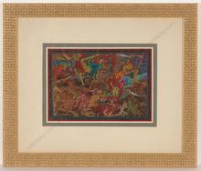 """Alfred WAAGNER - Dibujo Acuarela - """"Spuk"""", watercolor, 1910s"""