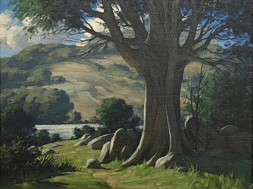 Bertram BRUESTLE - Pintura - A Forest Stream