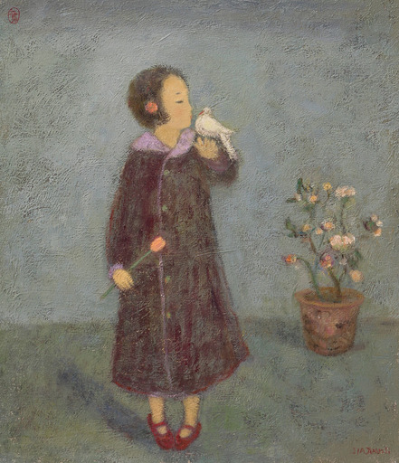 JIA Juanli - Gemälde - La tourterelle