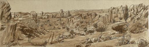 Grégoire MICHONZE - Drawing-Watercolor - paysage