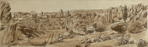 Grégoire MICHONZE - Zeichnung Aquarell - paysage