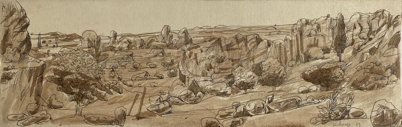 Grégoire MICHONZE - 水彩作品 - paysage