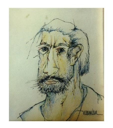Leonardo M. NIERMAN - Drawing-Watercolor - Self Portrait