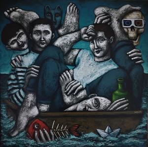 Nicolas MONJO - Painting - Plaisance