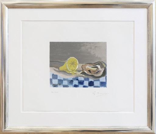 Georges BRAQUE - Print-Multiple - Huitre et citron - Auster mit Zitrone