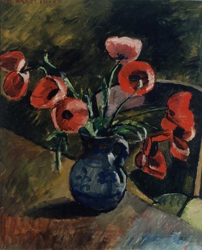 Maurice ASSELIN - Peinture - Poppies, 1919