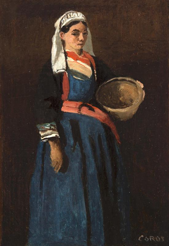 Camille Jean-Baptiste COROT - Painting - Bretonne