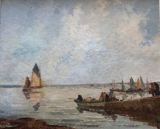 Robert YAN - Pintura - Départ pour la pêche en Bretagne