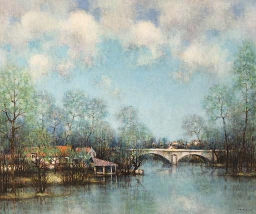 Jean-Louis VERGNE - Pittura - Le pont