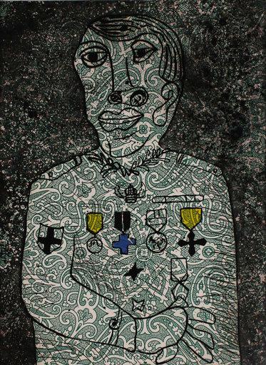 Enrico BAJ - Stampa-Multiplo - Personnage de guerre