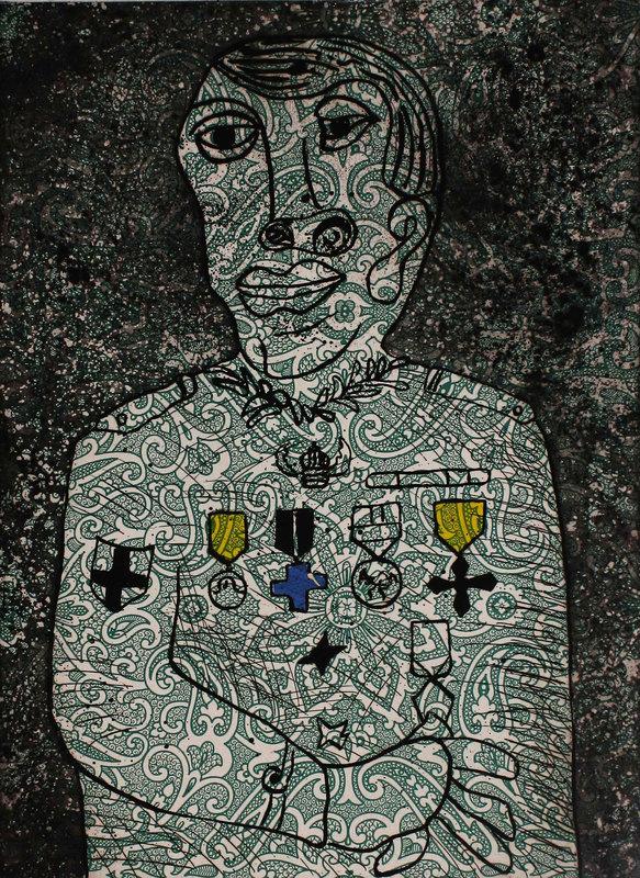 Enrico BAJ - Print-Multiple - Personnage de guerre