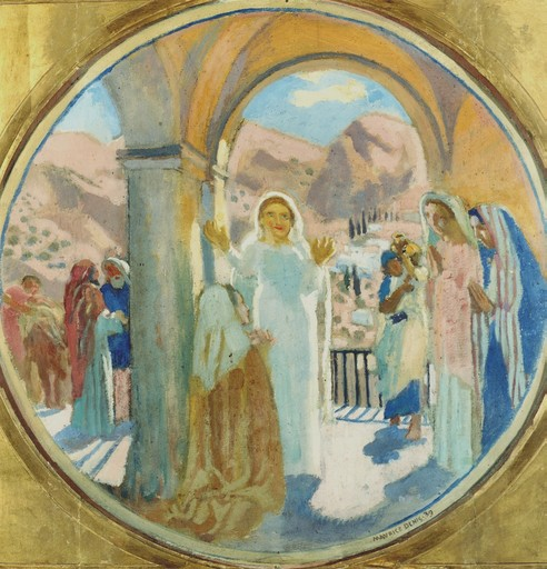 Maurice DENIS - Peinture - Visitation de la vallée de Finhaut, 1939