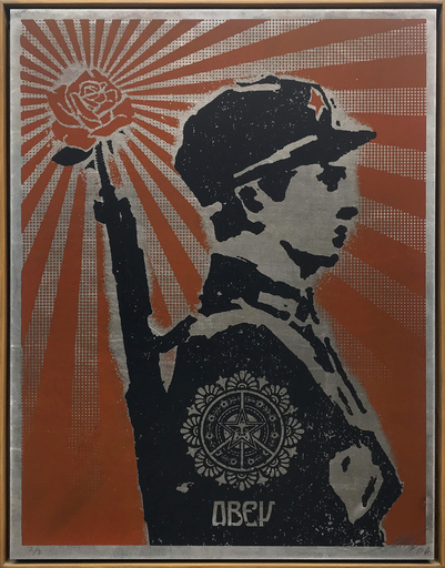 Shepard FAIREY - Grabado - Rose Soldier