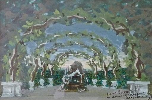Roger CHAPELAIN-MIDY - Drawing-Watercolor - Le Parc