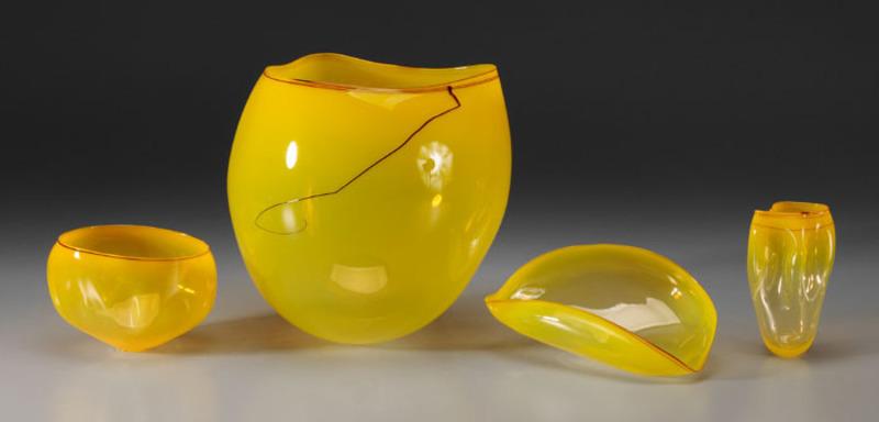Dale Patrick CHIHULY - Escultura - SUN YELLOW BASKET SET