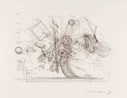 Jean TINGUELY - Estampe-Multiple - Chaos I