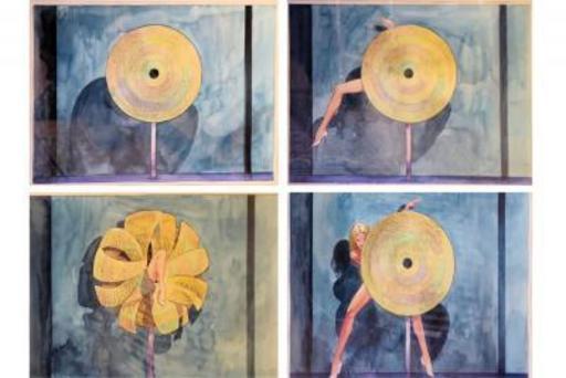 米罗•马那哈 - 水彩作品 - Set of four original illustrations