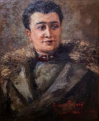 Augusto LAFORET - Gemälde - Ritratto maschile