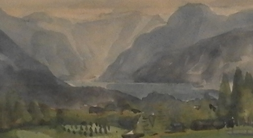 Rudolf Hermann EISENMENGER - Dibujo Acuarela - Hallstädter See