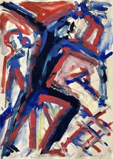 Helmut MIDDENDORF - Drawing-Watercolor - Running