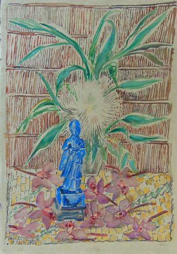 Charlotte BEREND-CORINTH - Dibujo Acuarela - Still Life with Statue